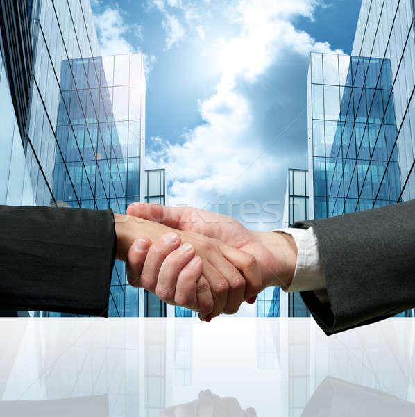 Business handshake Stock photo © alphaspirit