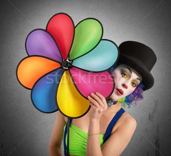 Clown with helix Stock photo © alphaspirit