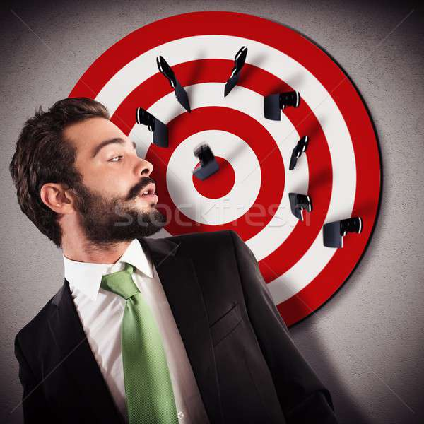 Target businessman Stock photo © alphaspirit