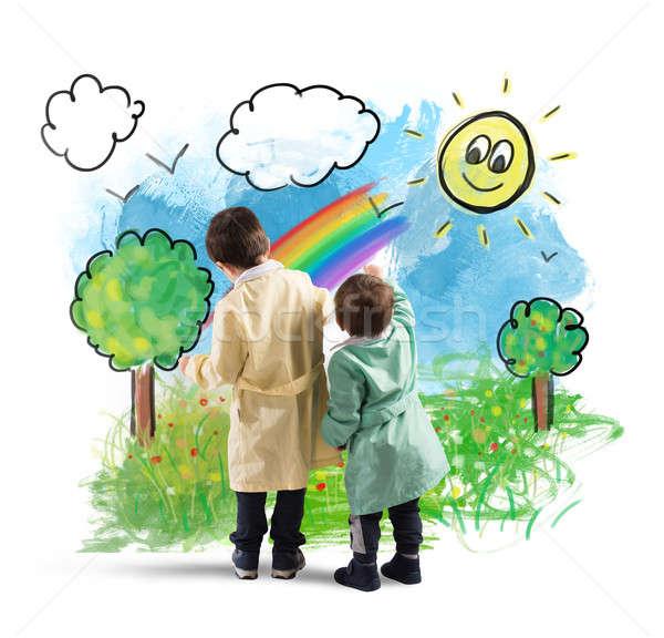 The world seen by children Stock photo © alphaspirit