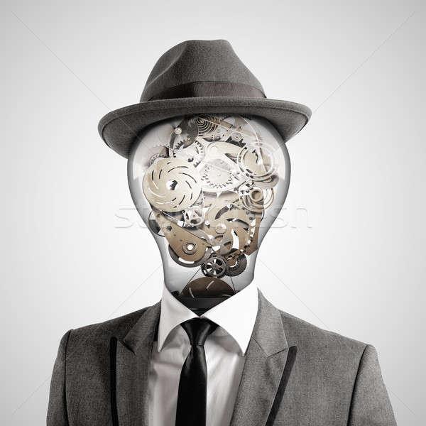 Kafa 3D adam ampul Stok fotoğraf © alphaspirit