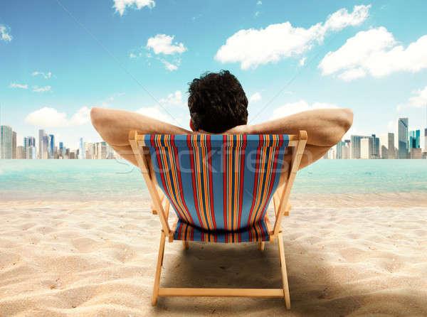 Relax away from work Stock photo © alphaspirit