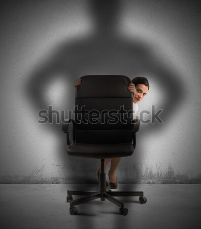 Kobieta interesu przestraszony szef kobieta krzesło pracownika Zdjęcia stock © alphaspirit