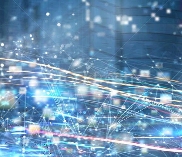 Resumen Internet conexión red movimiento efectos Foto stock © alphaspirit