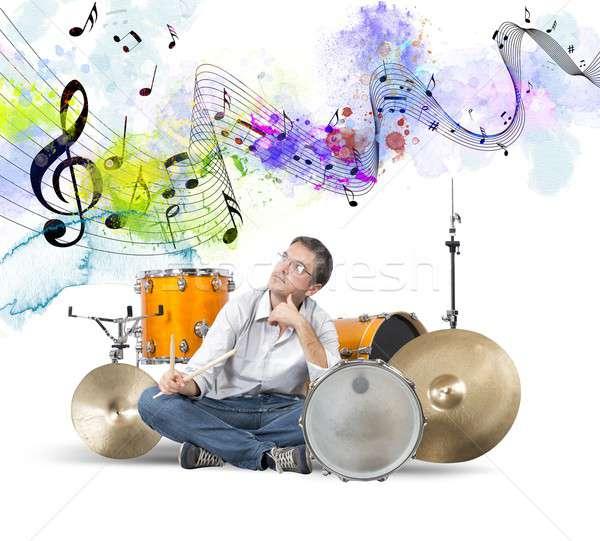 Drummer Stock photo © alphaspirit
