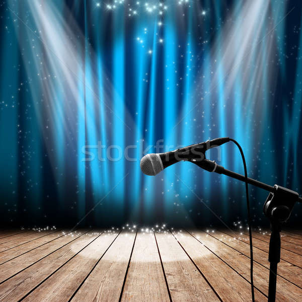 Stage and microphone Stock photo © alphaspirit