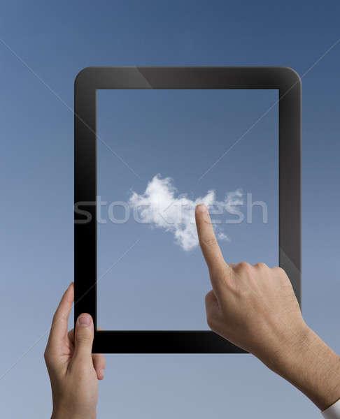 Virtual tableta negocios música teléfono Foto stock © alphaspirit