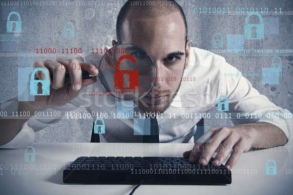 Virus and hacking concept Stock photo © alphaspirit