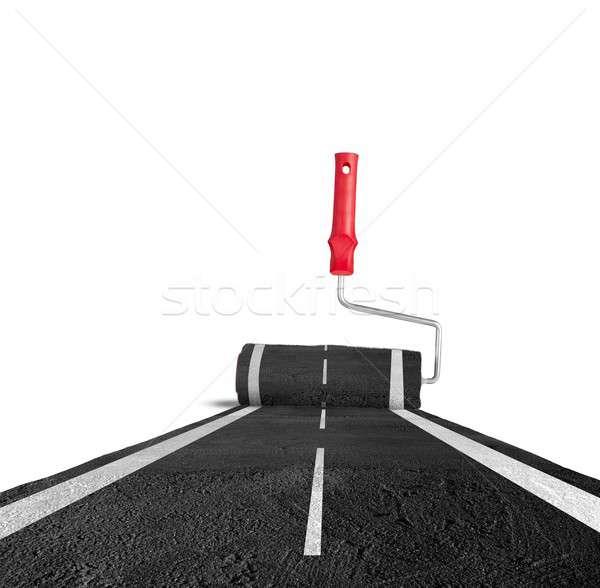 Painting the road Stock photo © alphaspirit