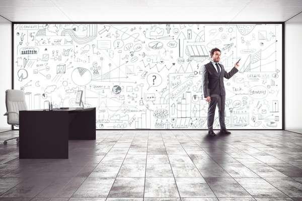 Business analysis in an office Stock photo © alphaspirit