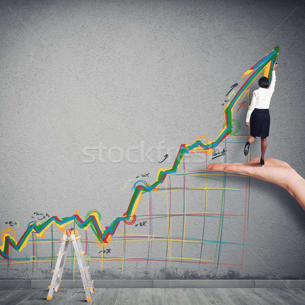 Business arrow upwards Stock photo © alphaspirit