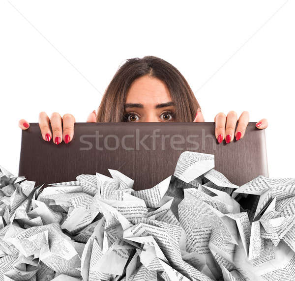 Submerged by the e-mail spam Stock photo © alphaspirit