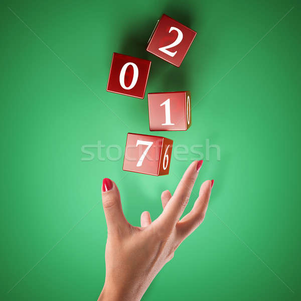 Bet on the happy new year Stock photo © alphaspirit