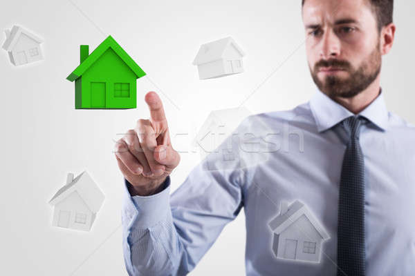 Choice of home. 3D Rendering Stock photo © alphaspirit