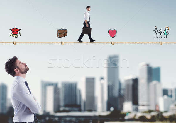 Stages of businessman life Stock photo © alphaspirit