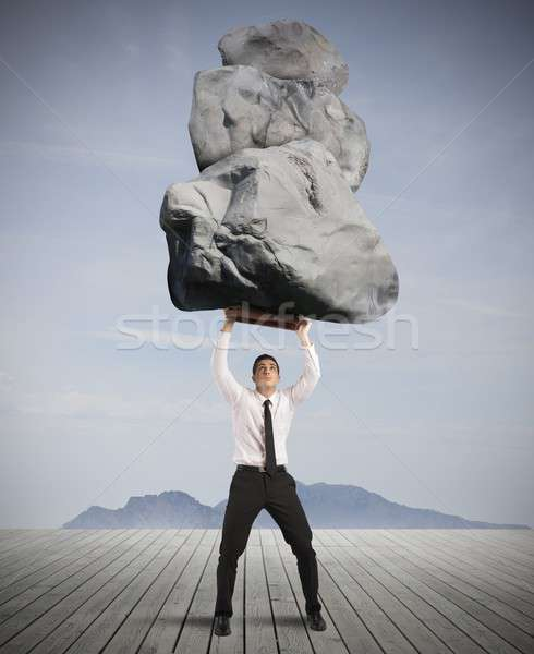 Success and determination in hard business Stock photo © alphaspirit