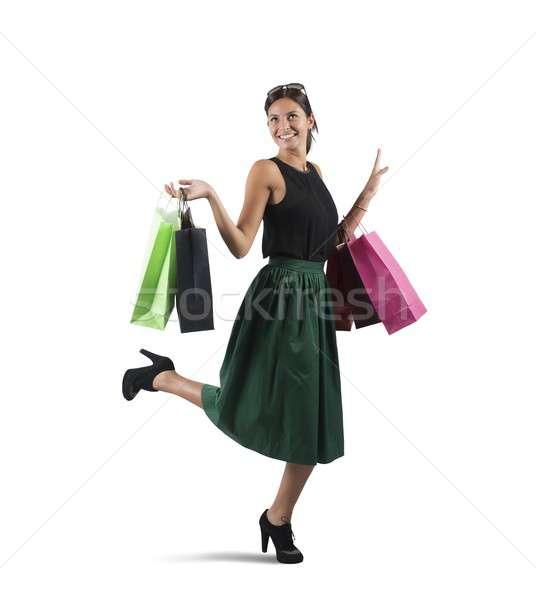 Shopaholic woman Stock photo © alphaspirit