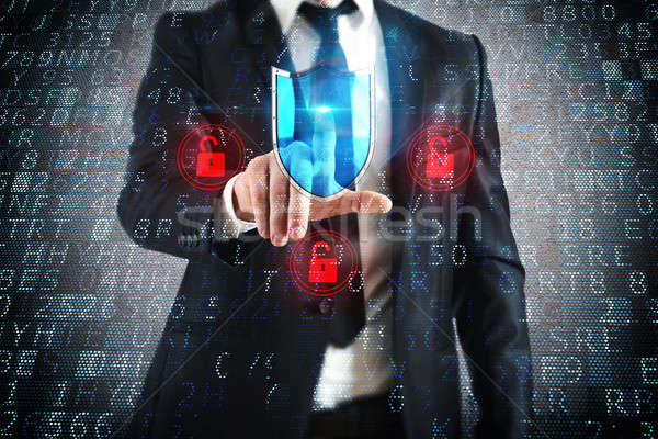 Select security shield Stock photo © alphaspirit