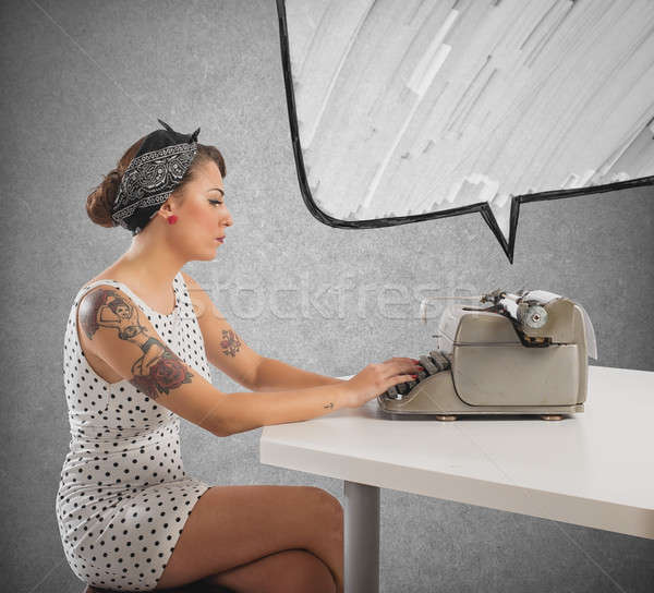Pin-up writer Stock photo © alphaspirit