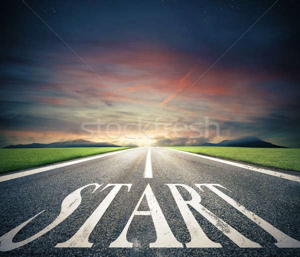 Concept of start straight for business Stock photo © alphaspirit