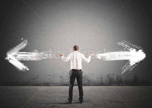 Empresario elección flechas instrucciones negocios Foto stock © alphaspirit