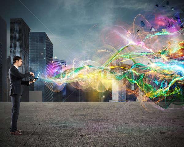 Business web projection Stock photo © alphaspirit