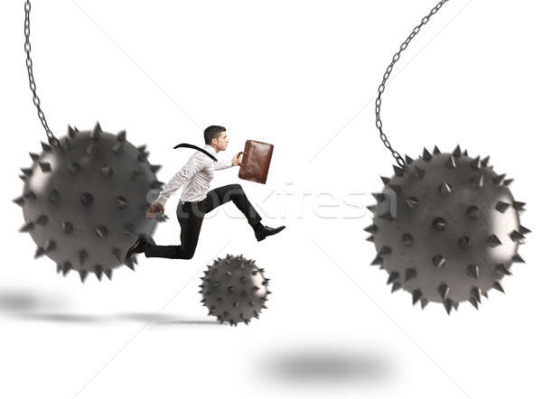 Businessman determined but hampered Stock photo © alphaspirit