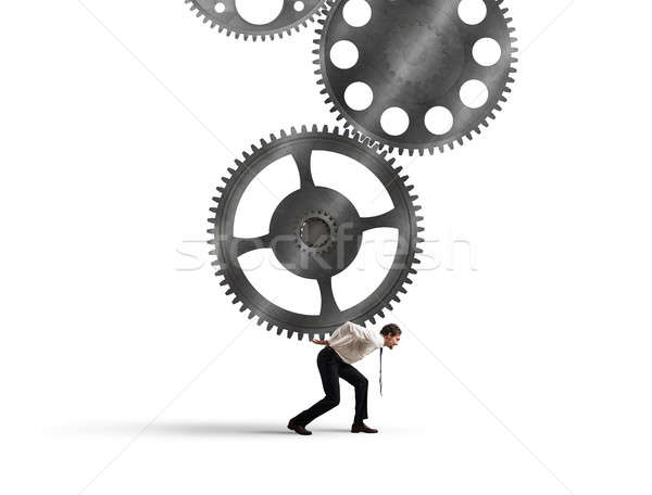 Integration concept with gears system mechanism Stock photo © alphaspirit