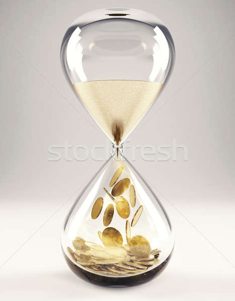 Time is money concept 3D Rendering Stock photo © alphaspirit