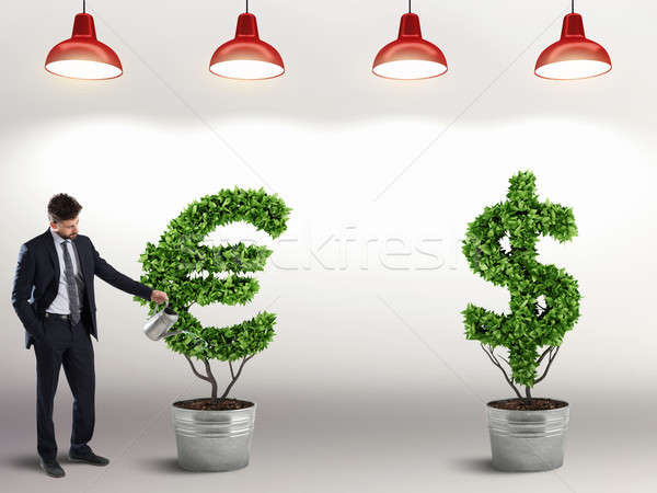 Ambition and skill of a businessman. 3D Rendering Stock photo © alphaspirit