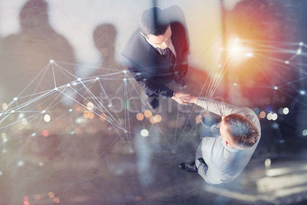 Сток-фото: служба · сеть · эффект · команде