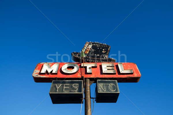 モーテル にログイン 青空 捨てられた レトロスタイル 空 ストックフォト © alptraum