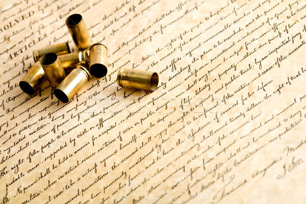 bullet casings on bill of rights Stock photo © alptraum
