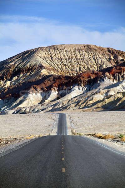 Pustyni górskich drogowego śmierci dolinie góry Zdjęcia stock © alptraum