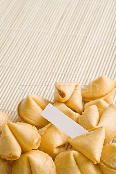 Sütik szerencsesüti süti repedt nyitva papír Stock fotó © alptraum