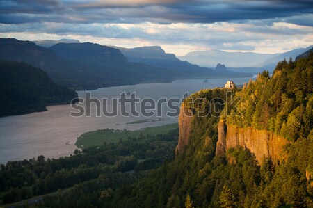 Oregon landscape - Crown Point Columbia river Stock photo © alptraum