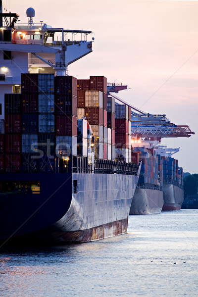 container ships docked in port Stock photo © alptraum