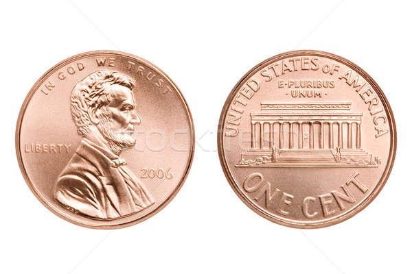 Penny macro geïsoleerd beide een amerikaanse Stockfoto © alptraum