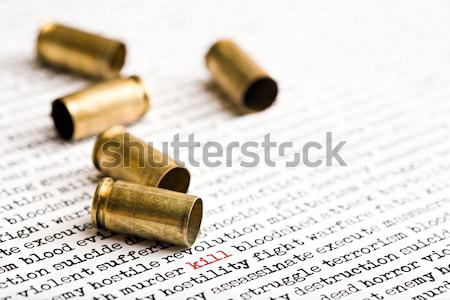 bellet shells over Iraqi cities Stock photo © alptraum