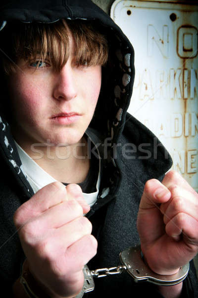 teenager in handcuffs Stock photo © alptraum