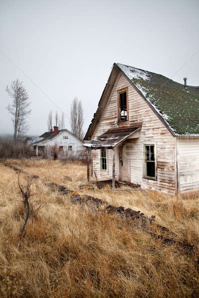 Photo stock: Abandonné · maison · deux · maisons · rural · Oregon
