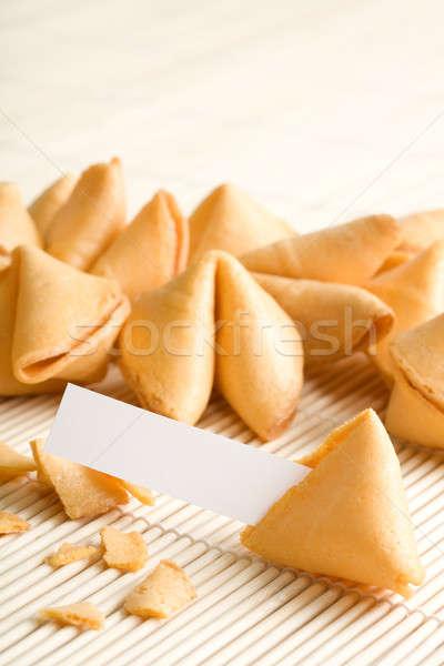 Sütik üres papír saját közelkép egész szövegdoboz Stock fotó © alptraum