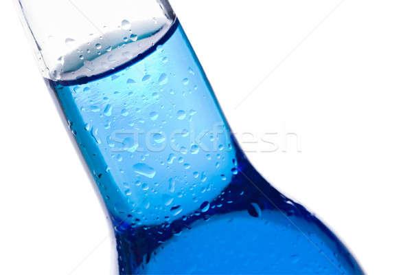 Butelki niebieski płynnych odizolowany streszczenie Zdjęcia stock © alptraum