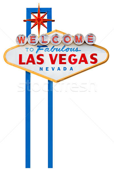 las vegas sign isolated on white Stock photo © alptraum