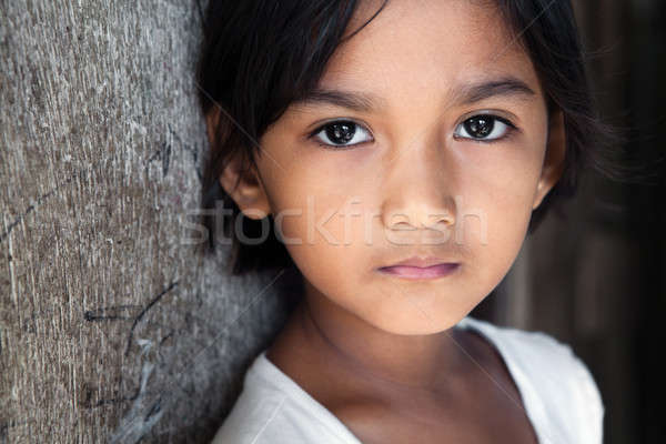 Fülöp-szigetek filipina lány portré csinos 8 éves Stock fotó © alptraum