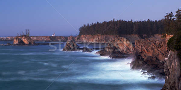 Oregon Coast - Cape Arago Lighthouse Stock photo © alptraum