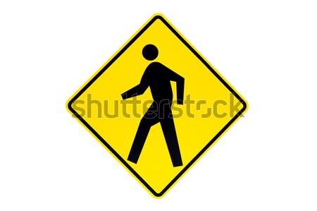 Peatonal signo aislado foto blanco Foto stock © alptraum