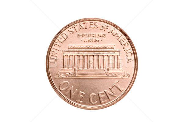 Penny macro geïsoleerd een amerikaanse cent Stockfoto © alptraum