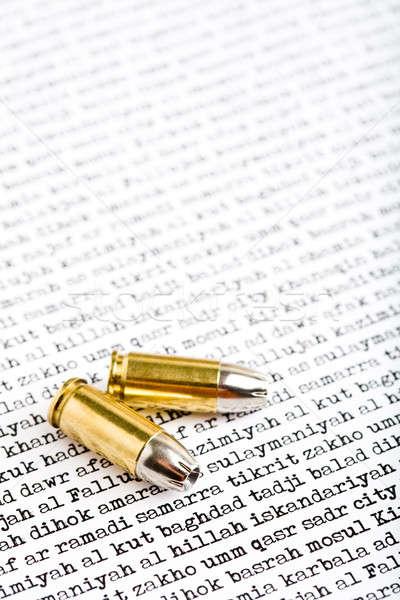 bullets over iraq Stock photo © alptraum