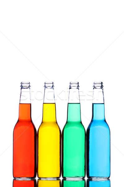 Botellas aislado blanco vidrio reflexión diferente Foto stock © alptraum